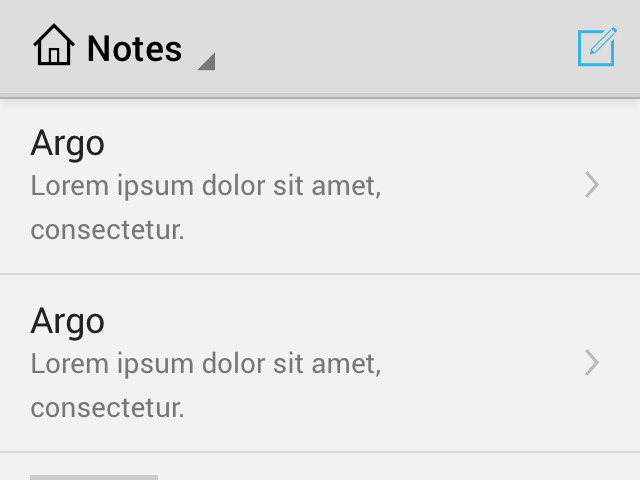 Android notes app example